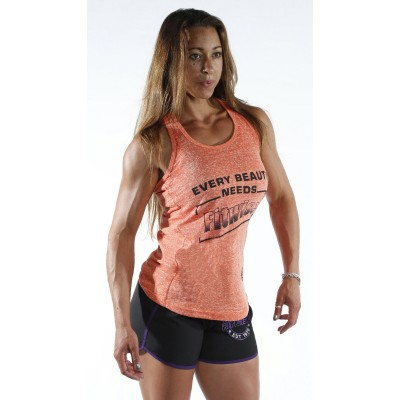Women's Orange and White Vest